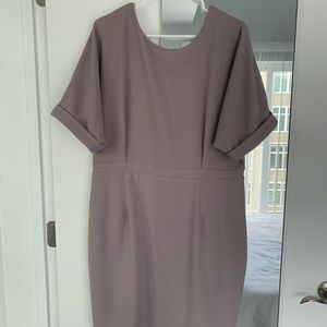 ASOS Mini Wiggle Dress mauve pink purple (size 14)